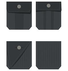 Back pocket set vector