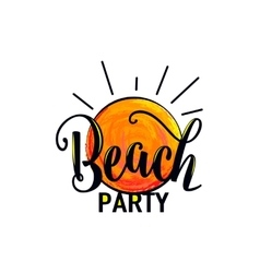 Beach party logo for poster vector
