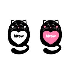 Black cat in cartoon style 4 vector