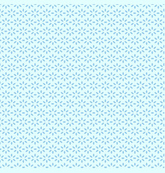 blue geometric floral pattern seamless cute vector image