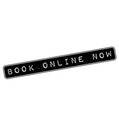 Book Online Now rubber stamp vector image