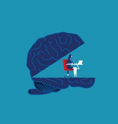 Brain working concept business vector