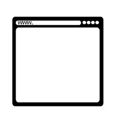browser icon symbol design vector image
