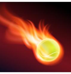 Burning tennis ball vector