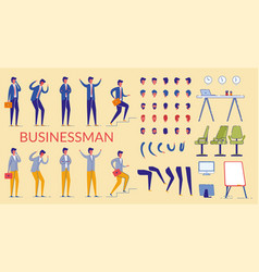 businessman character constructor office worker vector image