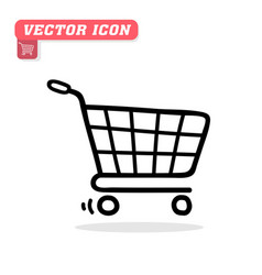 cart icon white background image vector image