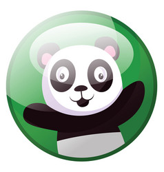 cartoon character of black and white panda with vector image