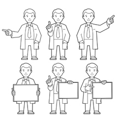 Character IT specialist scientist doctor vector