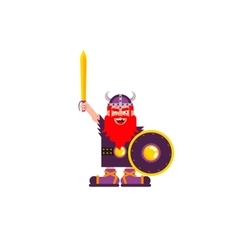 Character Warrior Viking vector