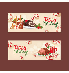 Christmas food for holiday decoration xmas sweet vector