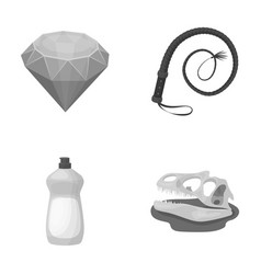 cleaning animal and other monochrome icon in vector image