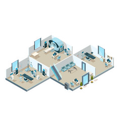 clinic interior hospital patients medical rooms vector image