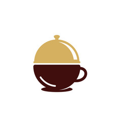 coffee food logo icon design vector image