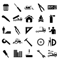 Collection flat icons Construction symbols vector image