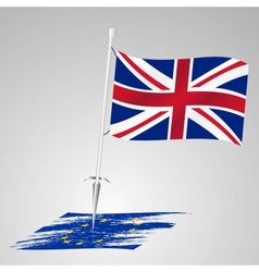 Color united kingdom flag european union flag vector