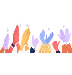 Colorful clapping hands or diverse applauding vector