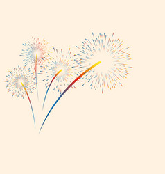 colorful color fireworks new year holidays vector image
