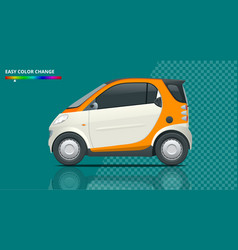 Compact smart car small compact hybrid vector