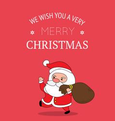 cute santa claus christmas greeting card vector image