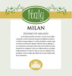 Designe page or menu for italian products it can vector