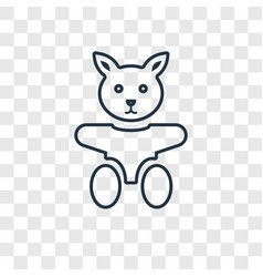 doll toy concept linear icon isolated on vector image