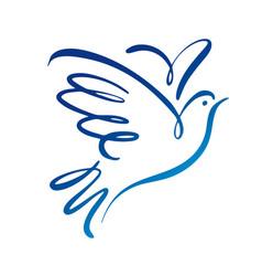 dove logo template concept logo vector image
