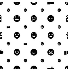 Facebook icons pattern seamless white background vector
