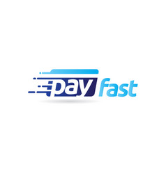 fast pay digital electronic transaction logo vector image