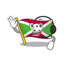 Flag burundi cute cartoon character design vector