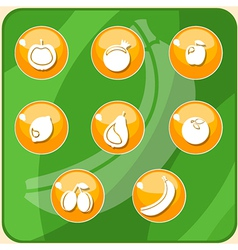 fruit buttons vector image vector image