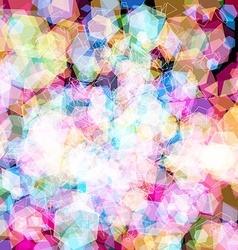 Geometric light effects background vector image