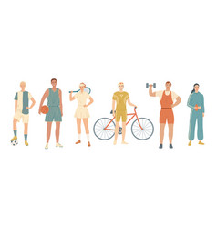 group athletes from different kinds sports vector image