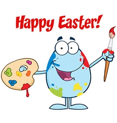 Happy easter activity cartoon egg vector image