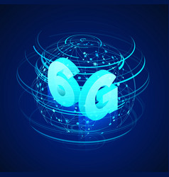 High speed 6g global mobile networks business vector