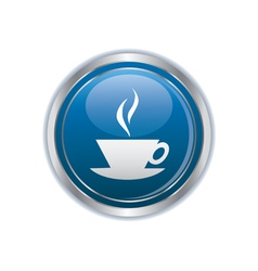 Hot cup button vector image