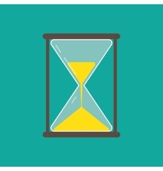 Hourglass icon flat vector
