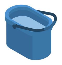 housework plastic bucket icon isometric style vector image