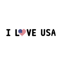 I LOVE USA2 vector image