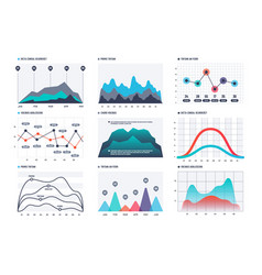 infographic chart statistics bar graphs economic vector image
