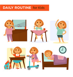 Kids on their daily goings vector