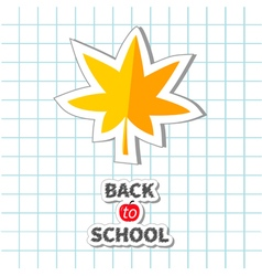 Maple leaf back to school exercise book paper vector