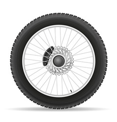 motorcycle wheel 03 vector image