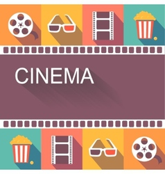 Movie cinema poster and design elements vector