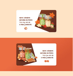 Nut business card nutshell of hazelnut with vector