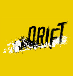 Off road drift image vector