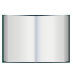 open book with white blank pages vector image