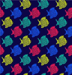 Pattern of fish Decorative Colorful Cute vector