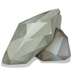 Pile of rocks on white vector