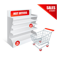 promotion shelf realistic vector image