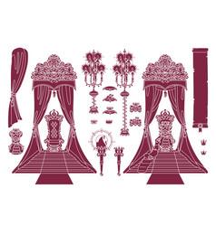 royal chair princess throne vector image